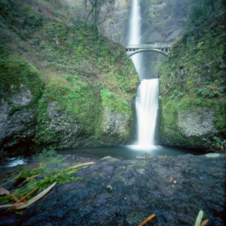 Multnomah Falls via pinhole